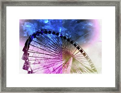 Ferris 2 Framed Print by Priscilla Huber