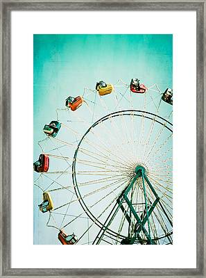 Ferris Wheel 2 Framed Print by Kim Fearheiley