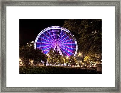 Ferris Wheel At Centennial Park 1 Framed Print