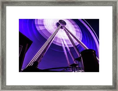 Ferris Wheel At Centennial Park 3 Framed Print