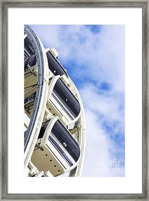 Ferris Wheel Carts Framed Print