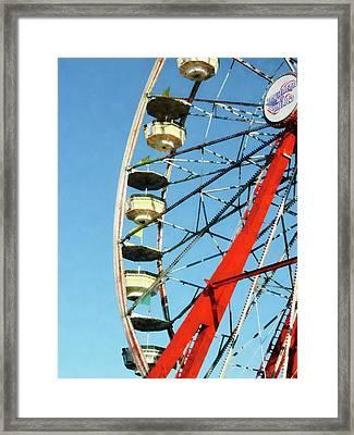 Ferris Wheel Closeup Framed Print