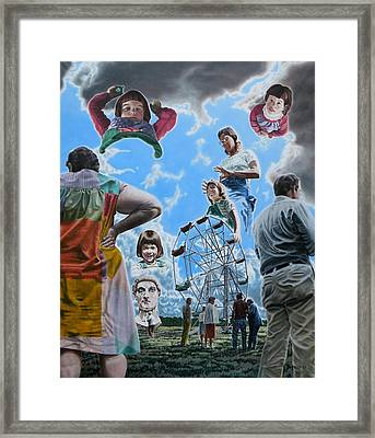 Ferris Wheel Framed Print by Dave Martsolf