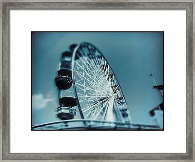 Framed Print featuring the photograph Blue Ferris Wheel by Douglas MooreZart