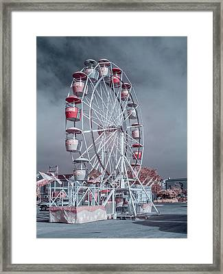 Ferris Wheel In Morning Framed Print by Greg Nyquist