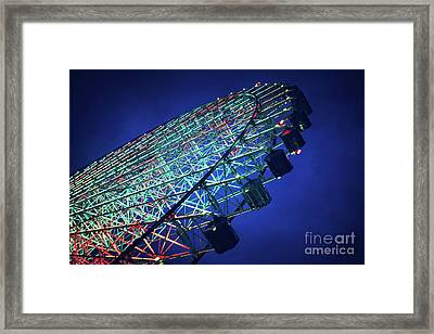 Ferris Wheel Framed Print by Jane Rix