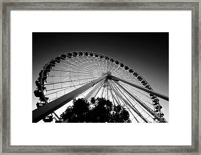 Ferris Wheel Framed Print by Leslie Leda