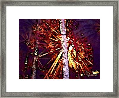 Framed Print featuring the photograph Ferris Wheel  by Mariola Bitner