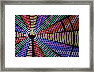 Ferris Wheel Night Colors Framed Print by Steven Bateson
