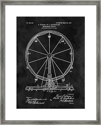 Ferris Wheel Patent Framed Print by Dan Sproul