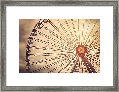 Ferris Wheel Prater Park Vienna Framed Print