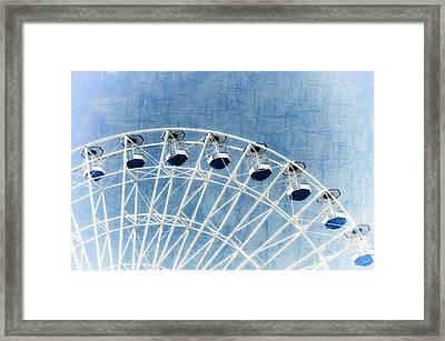 Wonder Wheel Series 1 Blue Framed Print