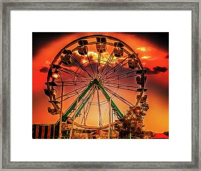 Framed Print featuring the photograph Ferris Wheel Sunrise by Steve Benefiel