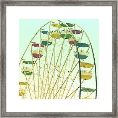 Framed Print featuring the digital art Ferris Wheel by Valerie Reeves