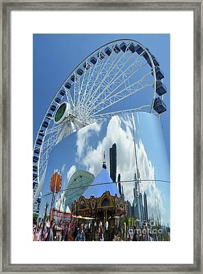 Ferris Wheel Wonder Framed Print by Andrea Simon