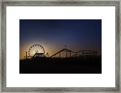 Ferris Whell At Dusk Framed Print