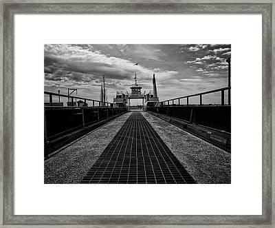 Ferry Boat Framed Print by Bob Orsillo