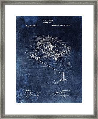 Ferry Boat Patent Illustration Framed Print by Dan Sproul