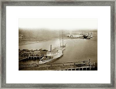 Ferry Boats Sidewheelers Sacramento And California Pacific Rail Co. Circa 1880 Framed Print by California Views Mr Pat Hathaway Archives