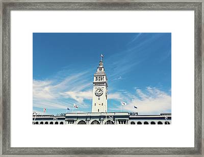 Framed Print featuring the photograph Ferry Building San Francisco 1915 - California Photography by Melanie Alexandra Price