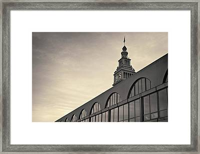 Framed Print featuring the photograph Ferry Building San Francisco I Toned by David Gordon