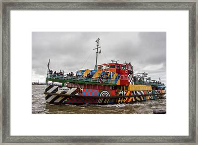 Ferry Cross The Mersey - Razzle Boat Snowdrop Framed Print
