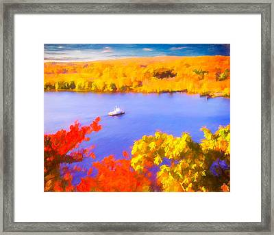 Ferry Crossing Connecticut River. Framed Print