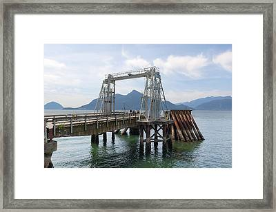 Ferry Dock And Pier At Porteau Cove Framed Print
