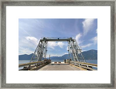 Ferry Dock At Porteau Cove Framed Print