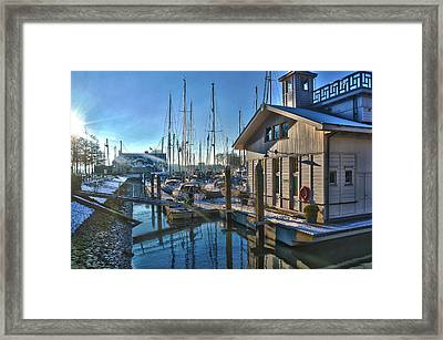 Ferry Harbour In Winter Framed Print