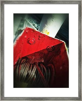 Framed Print featuring the photograph Ferry Hardware by Olivier Calas