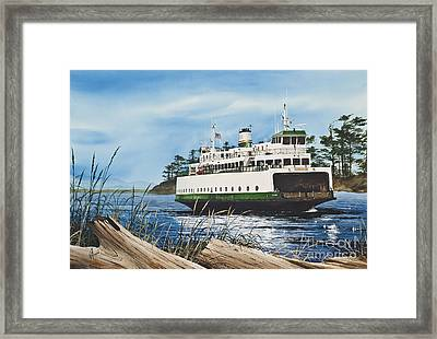 Ferry Illahee Framed Print by James Williamson