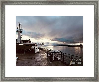 Ferry Morning Framed Print