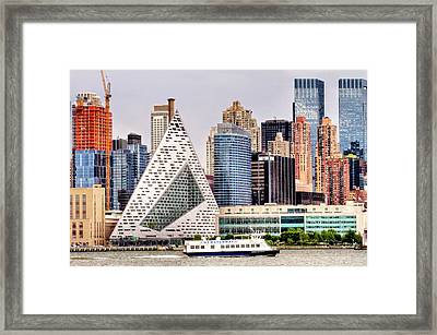 Ferry Ride Across The Hudson Framed Print by Geraldine Scull