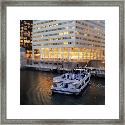 Framed Print featuring the photograph Ferry Ride by Ron Dubin