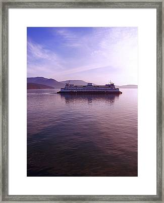Ferry Ride Through The San Juans Framed Print by Karla DeCamp