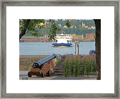Ferry To Levis Quebec Framed Print by John Malone