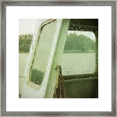 Framed Print featuring the photograph Ferry Windows by Sally Banfill