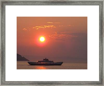 Ferryboat Sunset Framed Print by Aleks Findikian