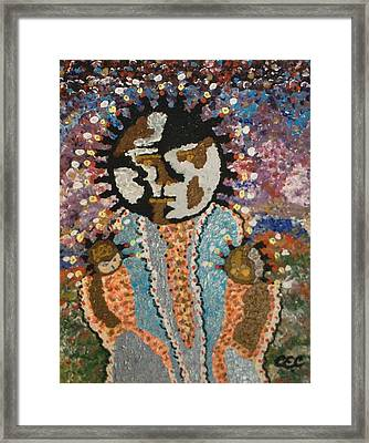 Framed Print featuring the painting Fertility Goddess by Carolyn Cable
