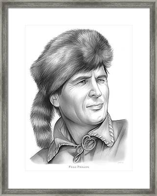 Fess Parker Framed Print by Greg Joens