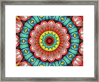Framed Print featuring the digital art Festival 3 by Wendy J St Christopher