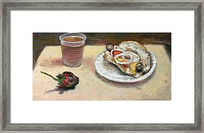 Festival Food Framed Print by Larry Seiler