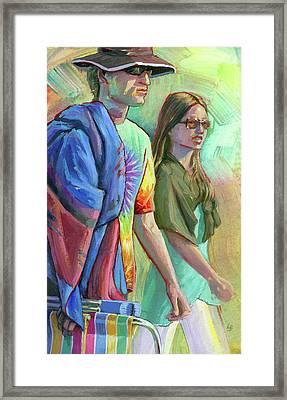 Festival Goers Framed Print