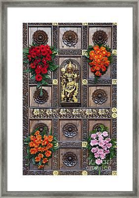 Festival Gopuram Gate Framed Print