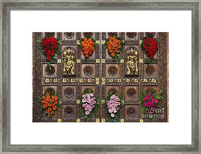Festival Gopuram Gates Framed Print by Tim Gainey