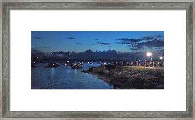 Framed Print featuring the photograph Festival Night Land And Shore by Felipe Adan Lerma