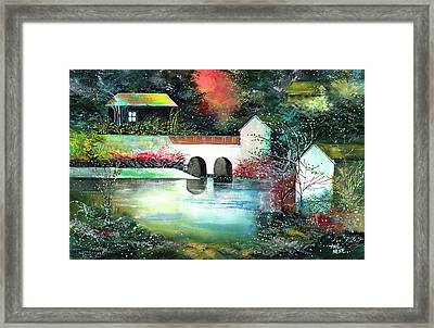 Framed Print featuring the painting Festival Of Lights by Anil Nene