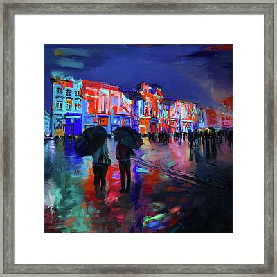 Festival Of Lights Lyon 1 258 3 Framed Print by Mawra Tahreem