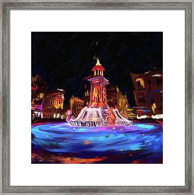 Festival Of Lights, Lyon 2 259 1 Framed Print by Mawra Tahreem